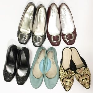Bundle of 5 Pairs of Size 8.5 Shoes